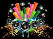 Musik Feier — Stockvektor