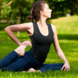 Woman doing stretching exercise. Yoga — Stock Photo #8457702