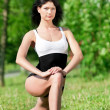 Woman doing stretching exercise. Yoga — Foto de Stock