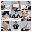 Collage of business woman - Stock Photo