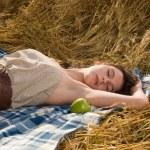 Beautiful slavonic girl on picnic — Stock Photo #8468411