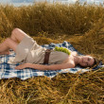 Beautiful slavonic girl on picnic — Stock Photo #8468417