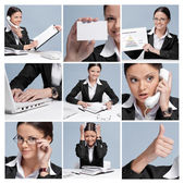 Collage of business woman — Stock Photo