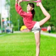 Girl doing stretching exercise. Yoga — Stock Photo #8529964