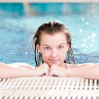 Beauty woman in swimming pool - 