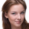 Closeup portrait of girl with clear makeup — Stock Photo #8535073