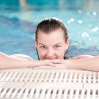 Beauty woman in swimming pool - Foto de Stock