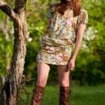 Beautiful young fashion woman posing outdoor — Stock Photo #8536062