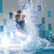 Swimmer jumping in swimming pool — Stock Photo #8536112