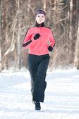 Zimní běh — Stock fotografie