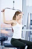 Young woman at the gym — Stock Photo