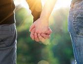 Concepto de la amistad y el amor de hombre y mujer — Foto de Stock