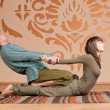 Stock Photo: Couple doing yoga. Massage