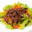 Spice Mexican salad with meat on plate - Stock Photo