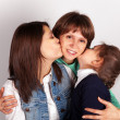 Young mother with two daughter — Stock Photo