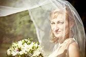 Portrait of the bride close-up — Stock Photo
