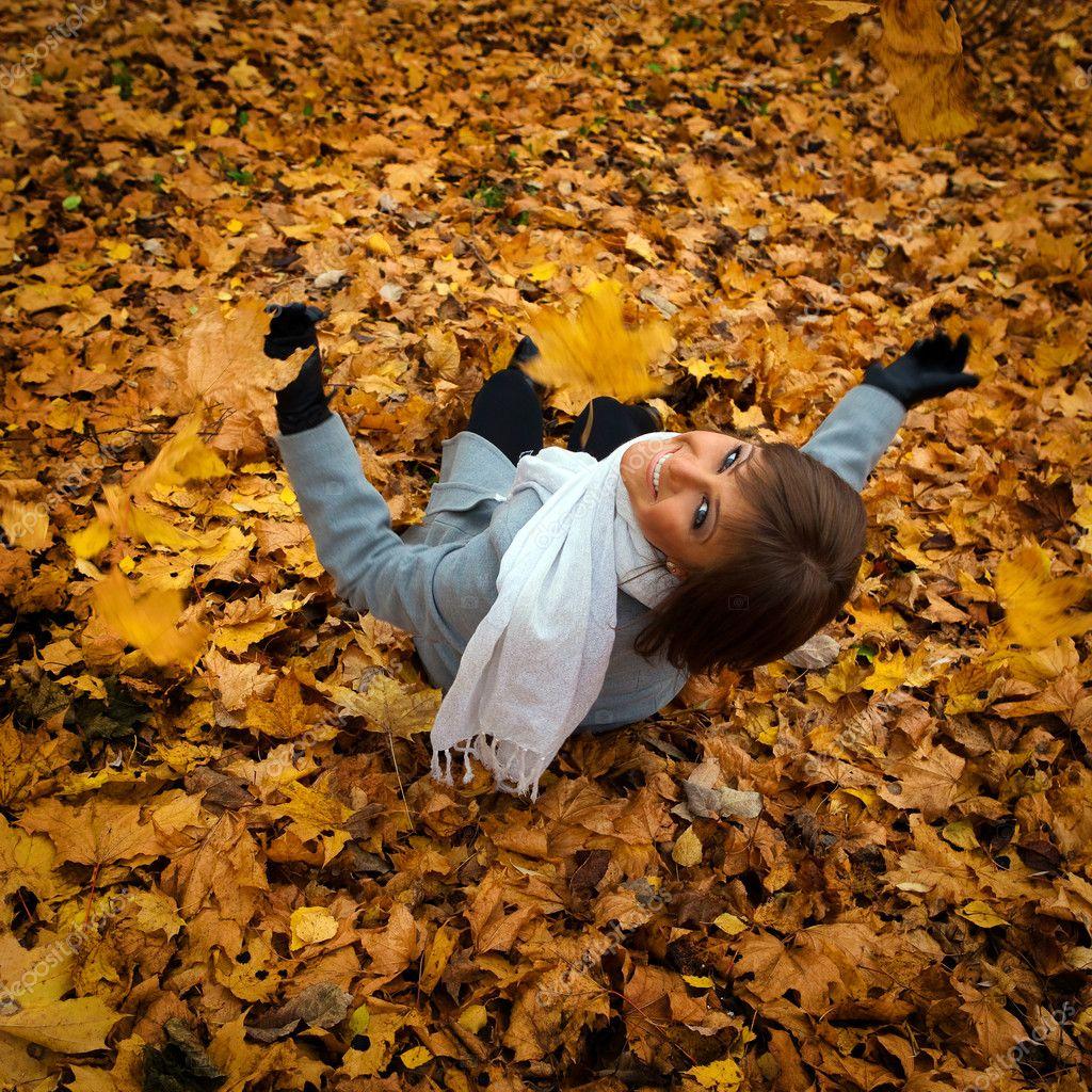 Осень желтые листья картинки