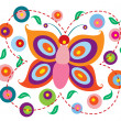 Lovely Butterfly — Vector de stock #10567327