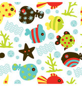 Under Water Fun Pattern — Stock Vector