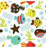 Under Water Fun Pattern — Stock Vector