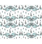 Swan family pattern — Stock Vector