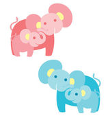 Elephant Family — Stock Vector
