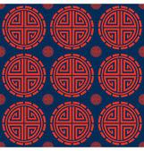 Oriental Circle Pattern — Stock Vector