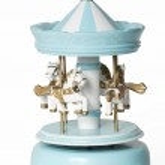 Blue merry-go-round toy on white — Stock Photo #10388036