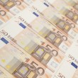 50 euro banknote background — Foto Stock