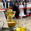 Stock Photo: Blessed sacraments on alter