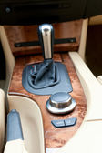 Interior console of luxury car — Stock Photo
