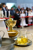 The blessed sacraments on the alter — 图库照片