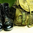 Army bag soldier - Foto Stock