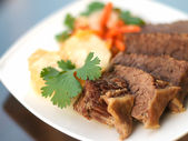 Vienna's boiled beef — Stock Photo