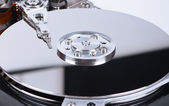 Close up of hard disk inside — Foto de Stock