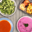 Variety of food on the table — Foto Stock