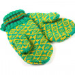 Pair of green knitted gloves — Stockfoto