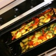 Vegetables and potato baked in oven — Stock Photo #8255912