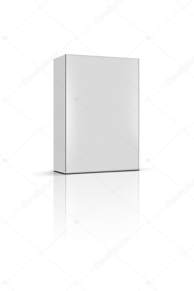 Blank product box — Stockfoto #9409403