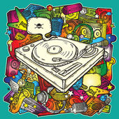 Musique de fond en couleur — Vecteur