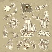 Pirates set — Stock Vector