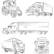 Stock Vector: Lorry and truck