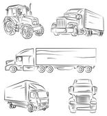 Lorry and truck — Stock Vector