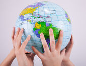 Playing with the world — Stock Photo