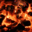Background from a fire and charcoal - Stock Photo
