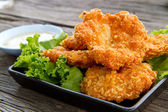 Deep fried shrimp — Stock Photo