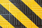 Yellow line and black strip — Stock Photo