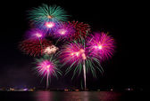 Fireworks at the sea — Foto de Stock