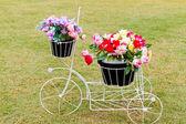 Bicicleta con flor — Foto de Stock