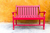 Red wooden chair — Stock fotografie